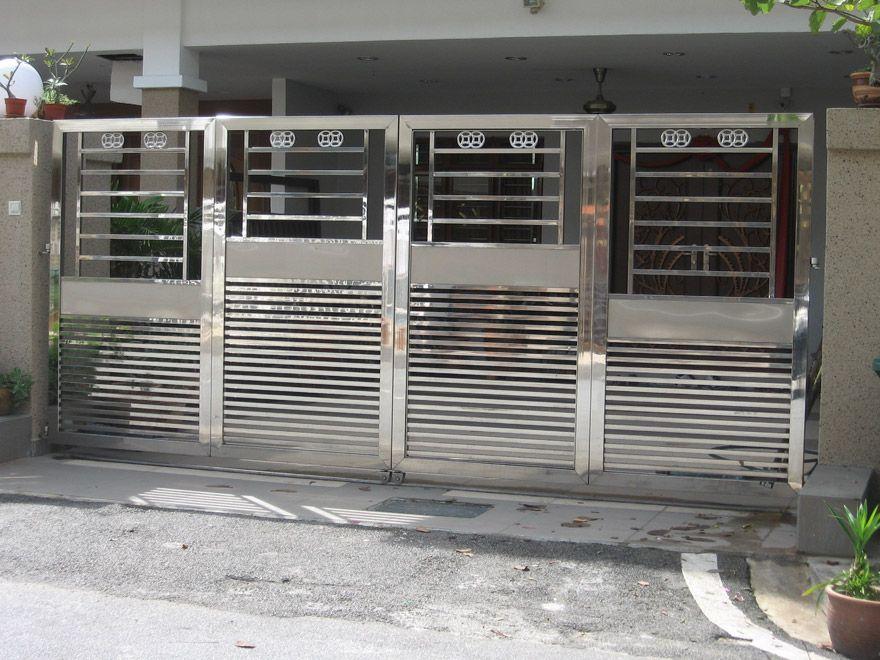 Folding Gate Fachada Portas Port 245 Es Grade Ferro