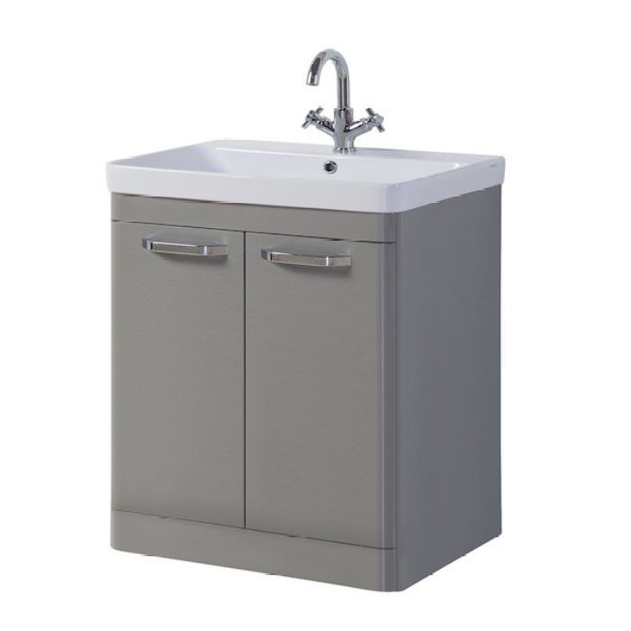 Kartell Options 800mm Basalt Grey Floor Standing 2 Door Unit And