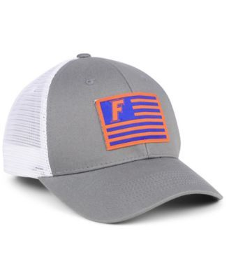 895b9abf259ae0 Top of the World Florida Gators Brave Trucker Snapback Cap - Gray White  Adjustable