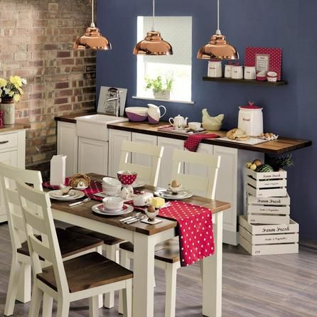 Loxley Cream Fixed Top Dining Table