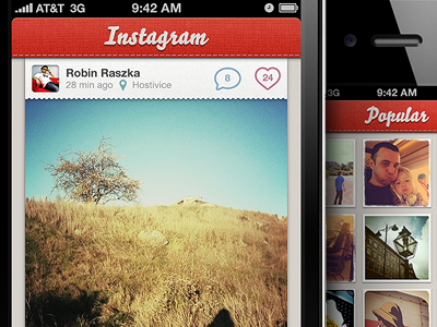 Instagram unofficial redesign by Robin Raszka