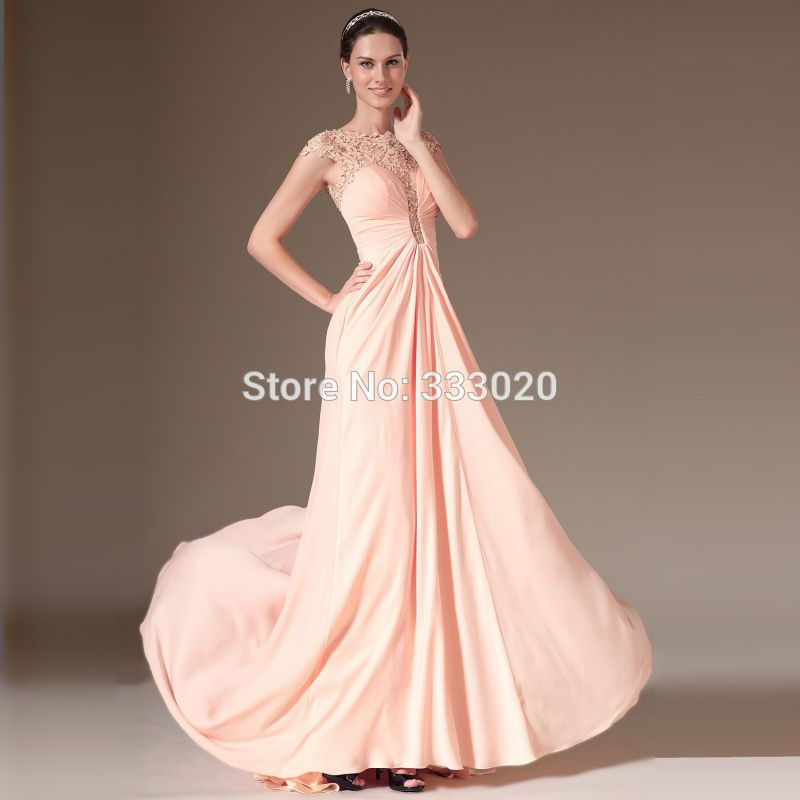 A Line Chiffon Long Pink Evening Dress Special Occasion Holiday ...