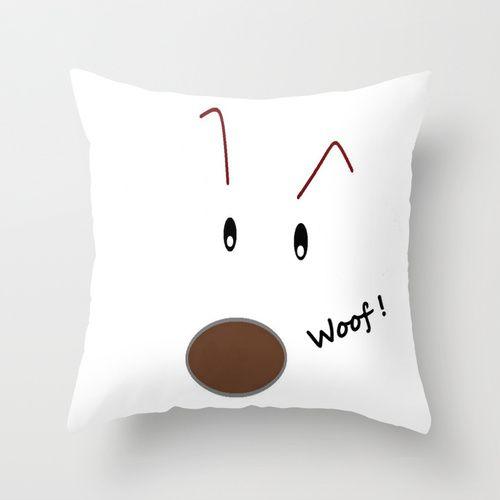 Woof! Throw Pillow #children  #kidsroom