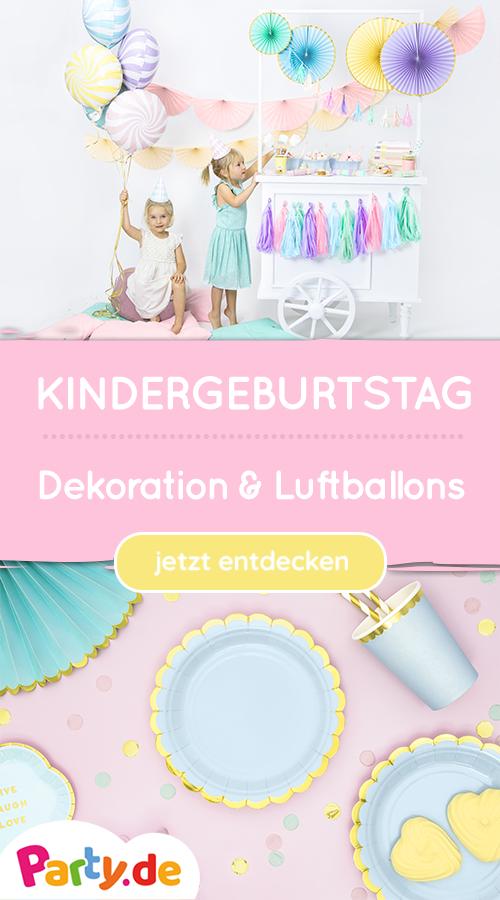 Dekorationen für Kindergeburtstage, Luftballons usw.