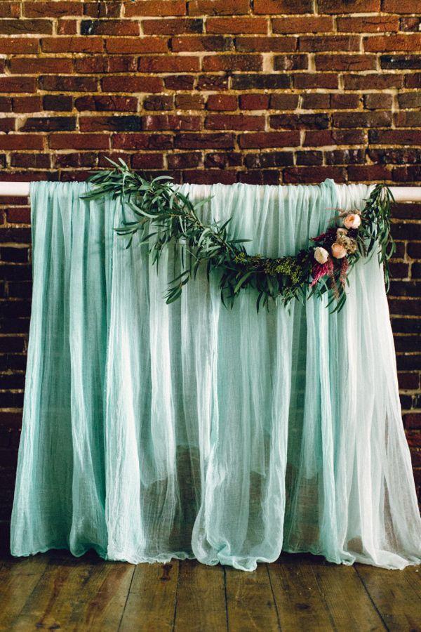 Wedding Backdrops Ceremony Backdrop Fabric Ribbon Decorations