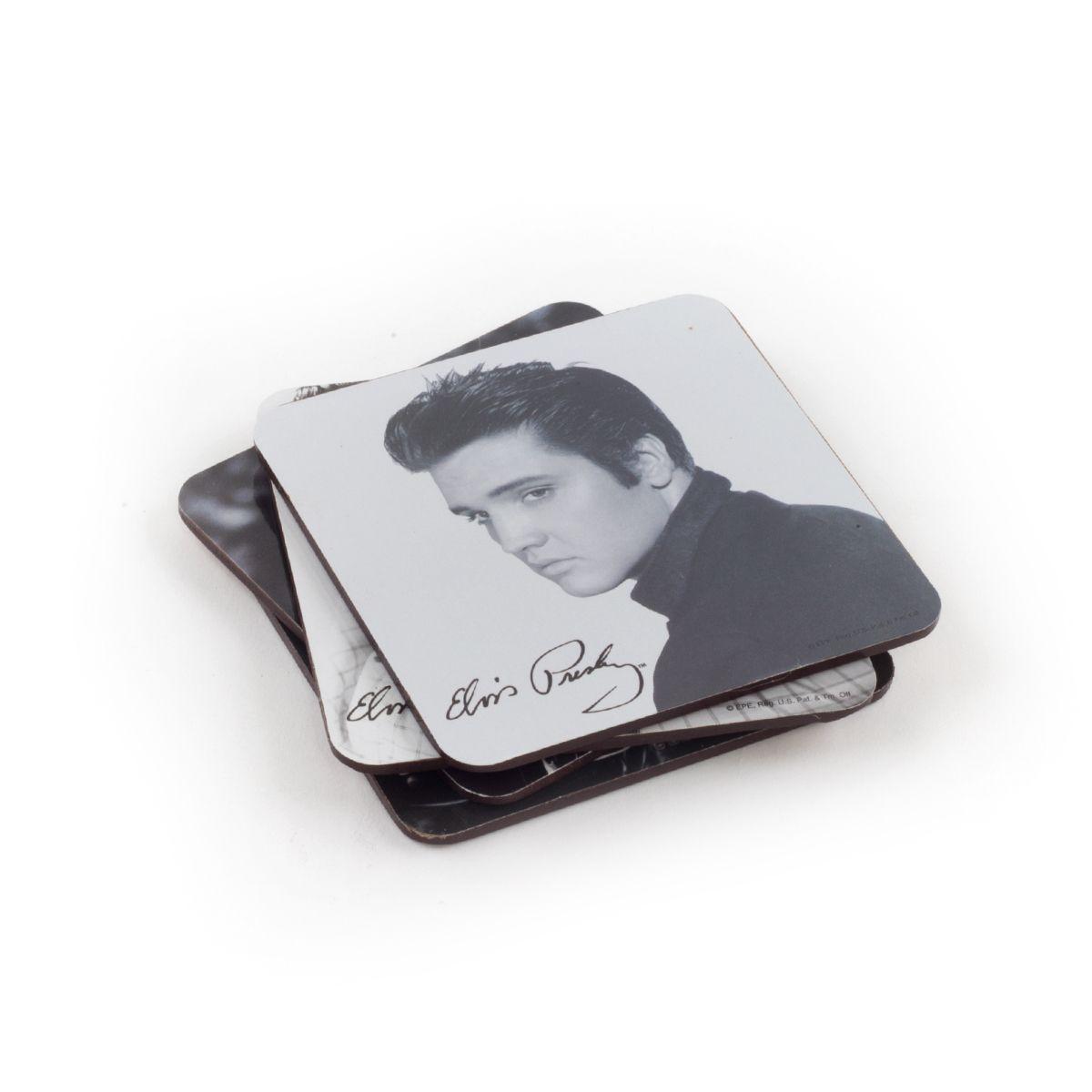 1a4e7c38e72eb Elvis Presley Coaster Set (4-piece)