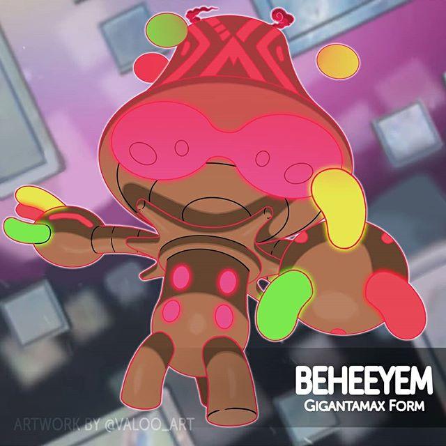 Gigantamax Beheeyem By Valoo Art Pokemon Fusion Art Pokemon Pokemon Fusion