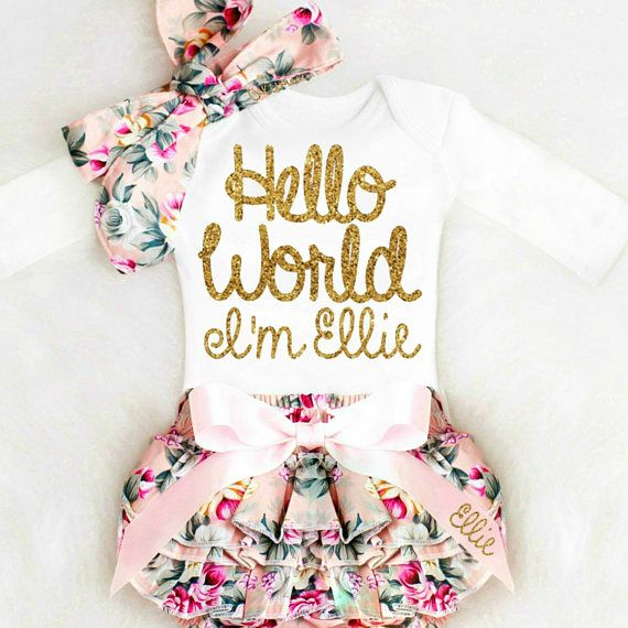 Photo of Baby Girl Coming Home Outfit Newborn Girl Take Home Outfit Personalized Baby Girl Clothes Winter Boho Baby Clothes
