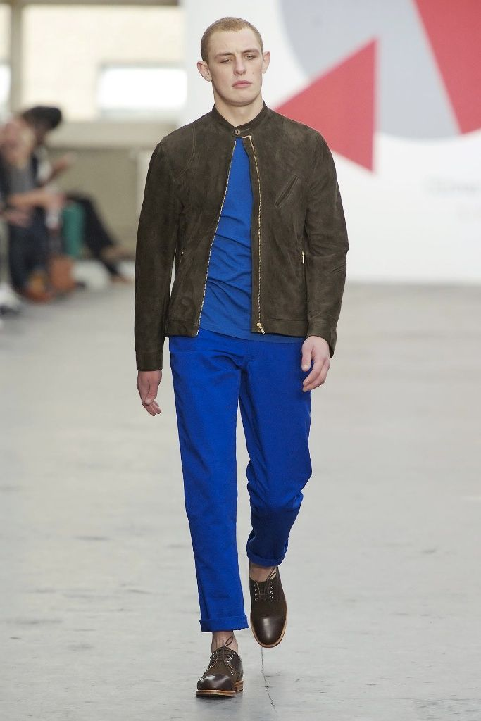 Oliver Spencer Spring/Summer 2013: Continuous Colour Blocking & Length Contrasted Structure Trend