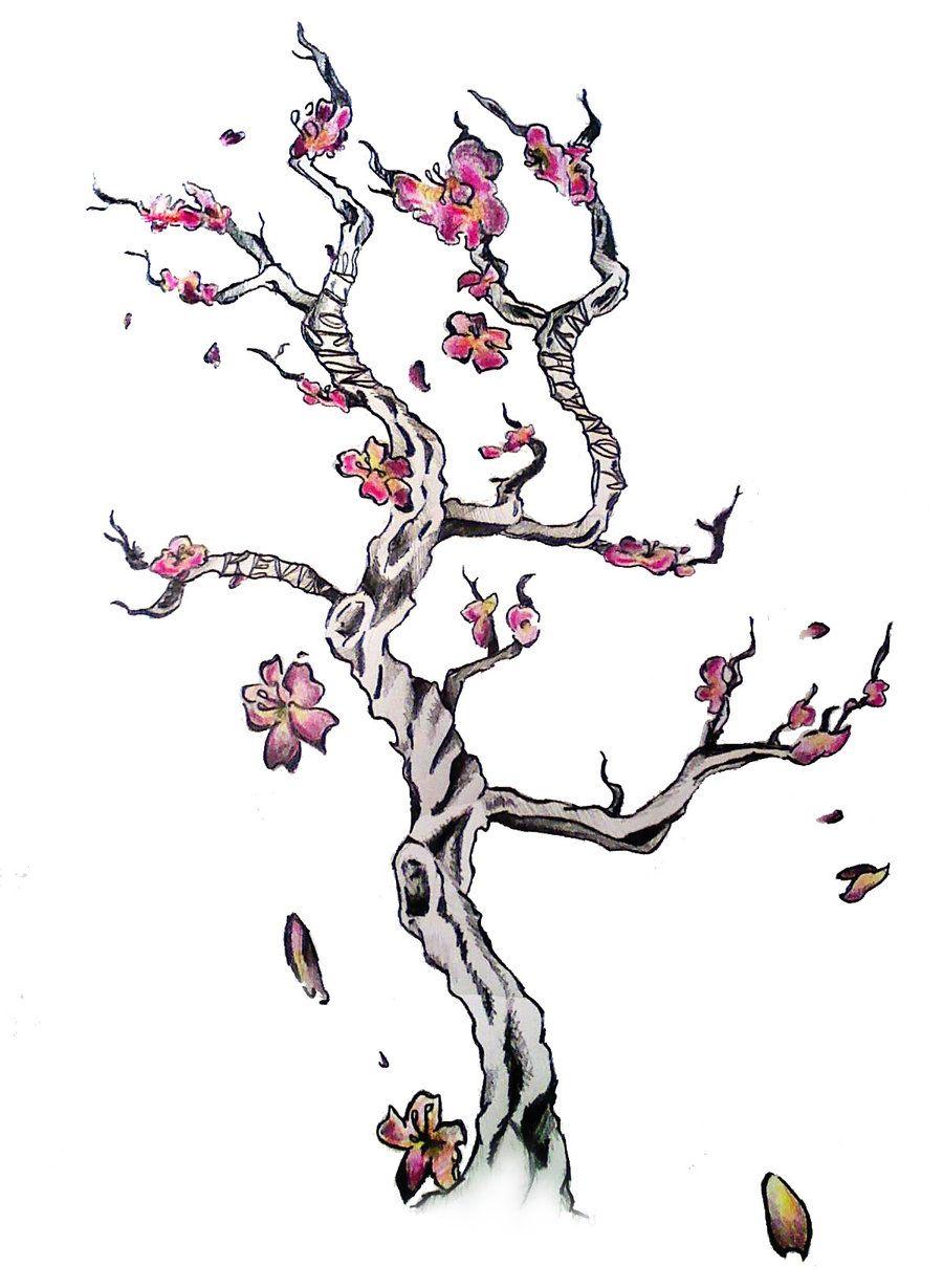 Love Cherry Blossoms Cherry Blossom Tree Tattoo Blossom Tree Tattoo Cherry Blossom Tattoo