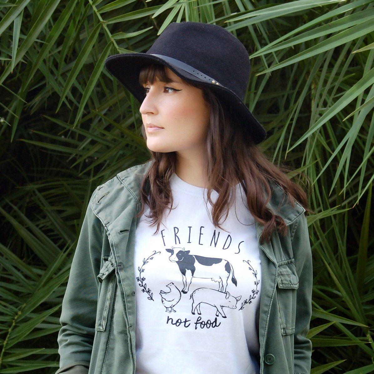 Ladies Novelty T Shirt Vegan Baseball Style Animal Rights