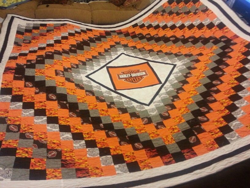 Harley Davidson Quilt Quilts By Sally Pinterest Cobija And