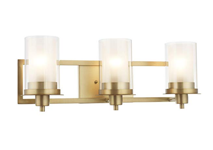 The Best Light Fixtures To Match Delta Champagne Bronze Trubuild Construction Bathroom Wall Sconces Wall Sconce Lighting Bathroom Fixtures