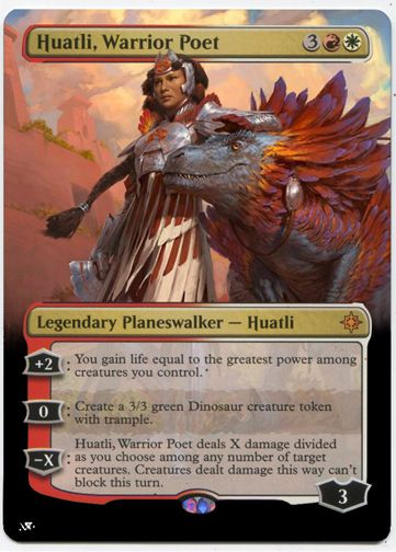 Mtg huatli warrior poet  x 1 mint condition