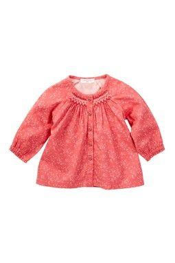 Begonia Smocked Shirt (Baby & Toddler Girls)