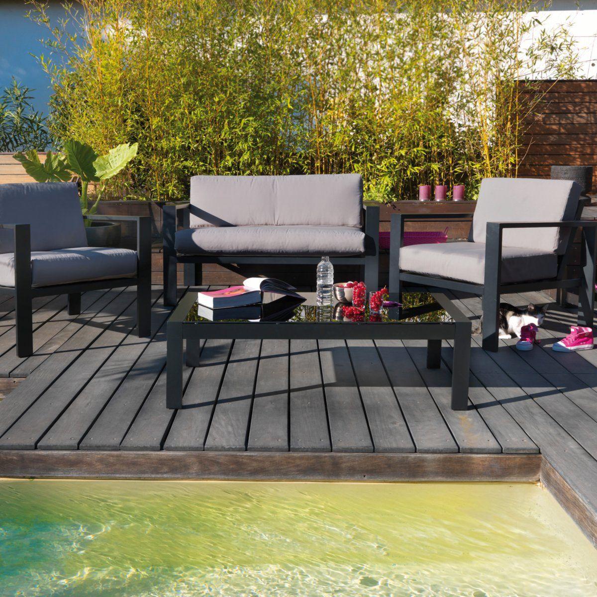 Salon de jardin, métal noir   Garden and Backyard   Outdoor ...