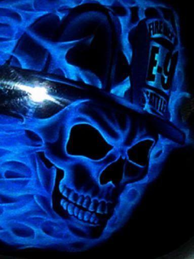 Blue Skull Wallpapers Skull Wallpaper Airbrush Skull Skull Pictures