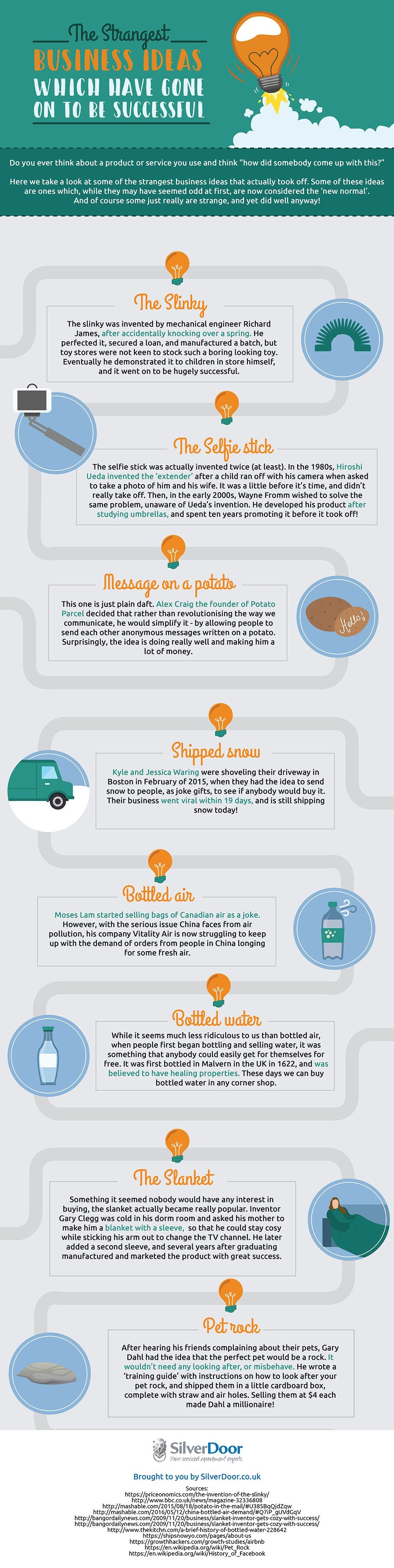 The Strangest Business Ideas Which Have Gone On To Be Successful #Infographic