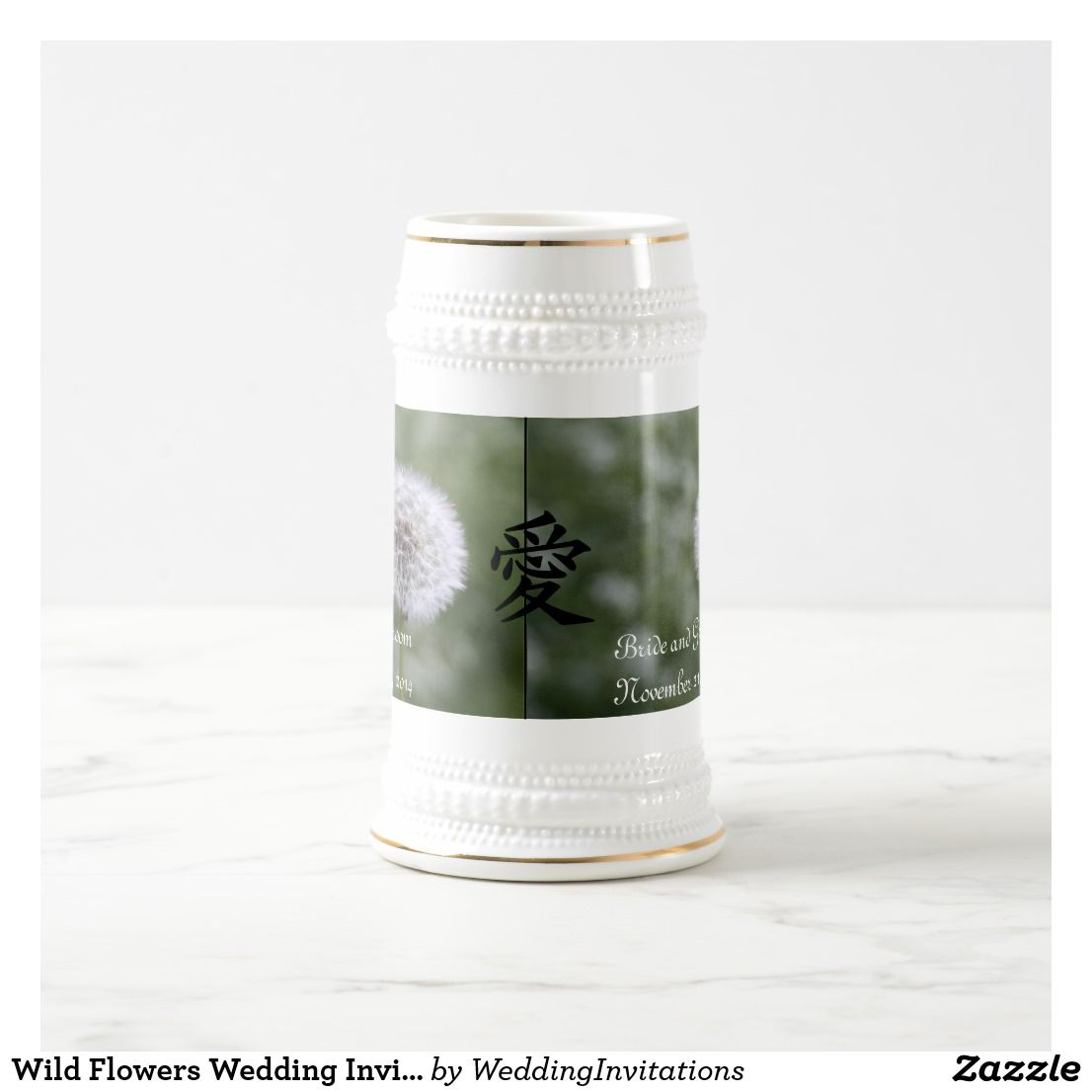 Wild Flowers Wedding Invitations and Favors Beer Stein | Wild ...