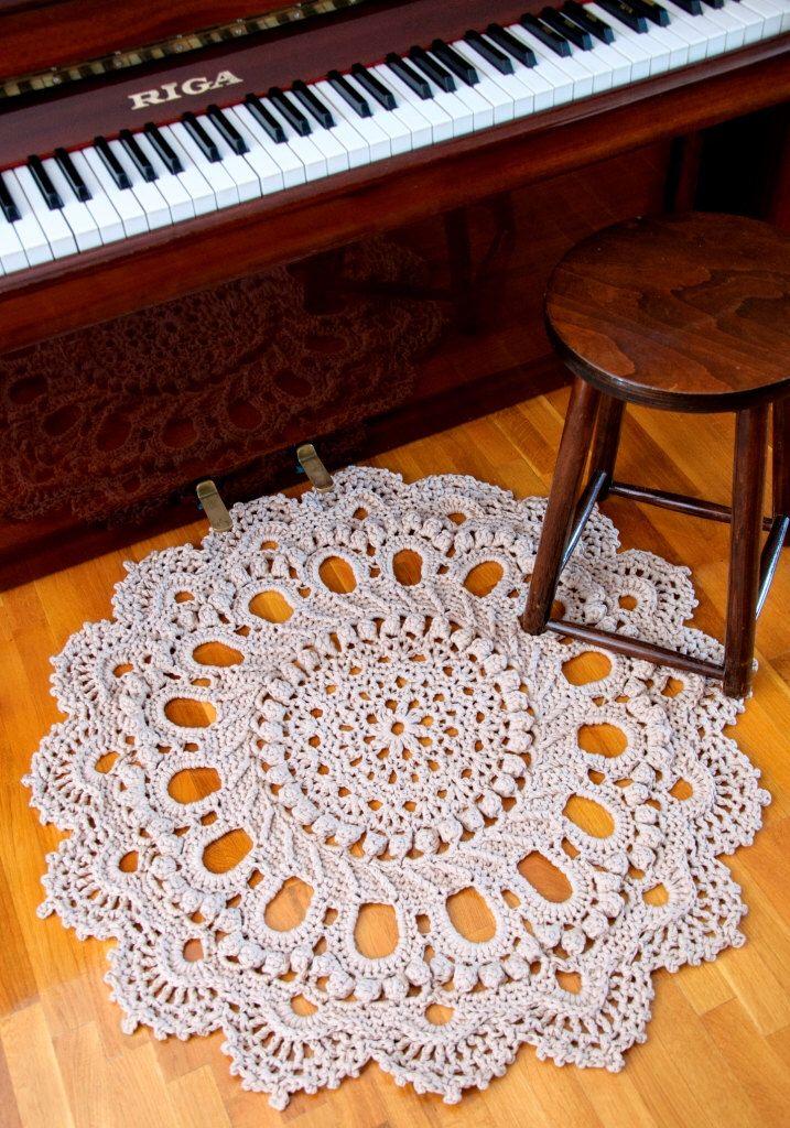 Giant Doily Crochet Rug Rustic Rug Splendid Pattern Crochet Rug