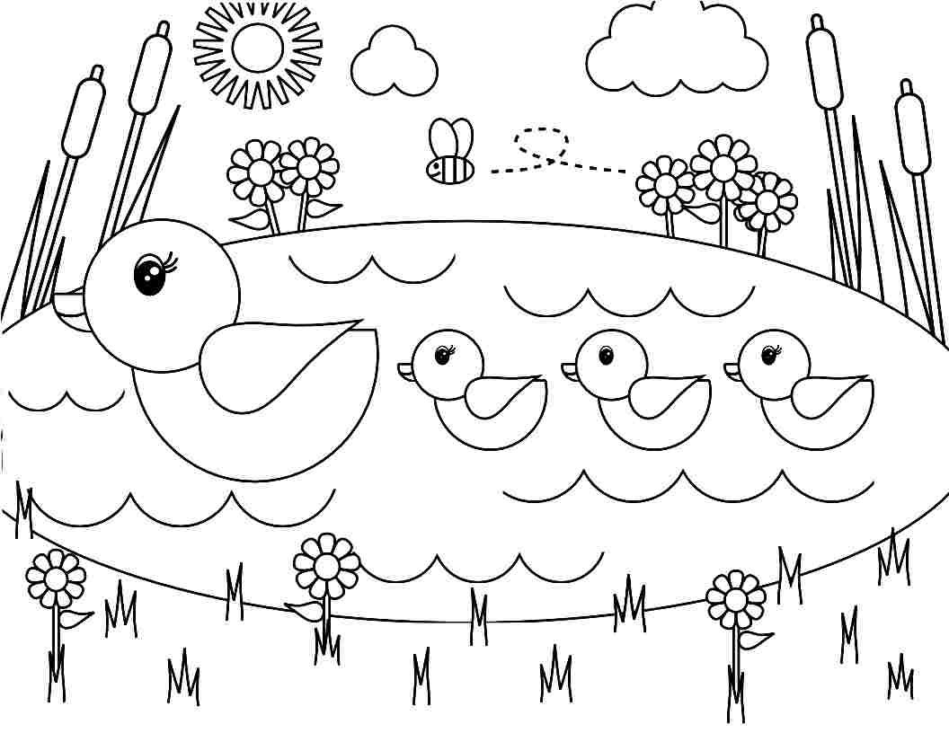Coloring Pages Spring Season Printable For Little Kids | птицы ...
