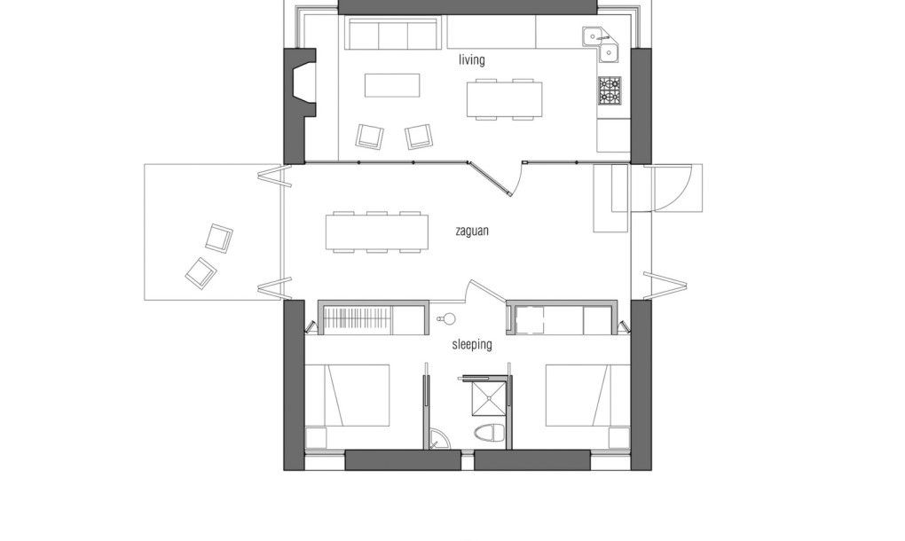 Off Grid Bunker Like Vacation Retreat Hides A Surprisingly Chic Interior Small House Plans House Plans Small Cabin