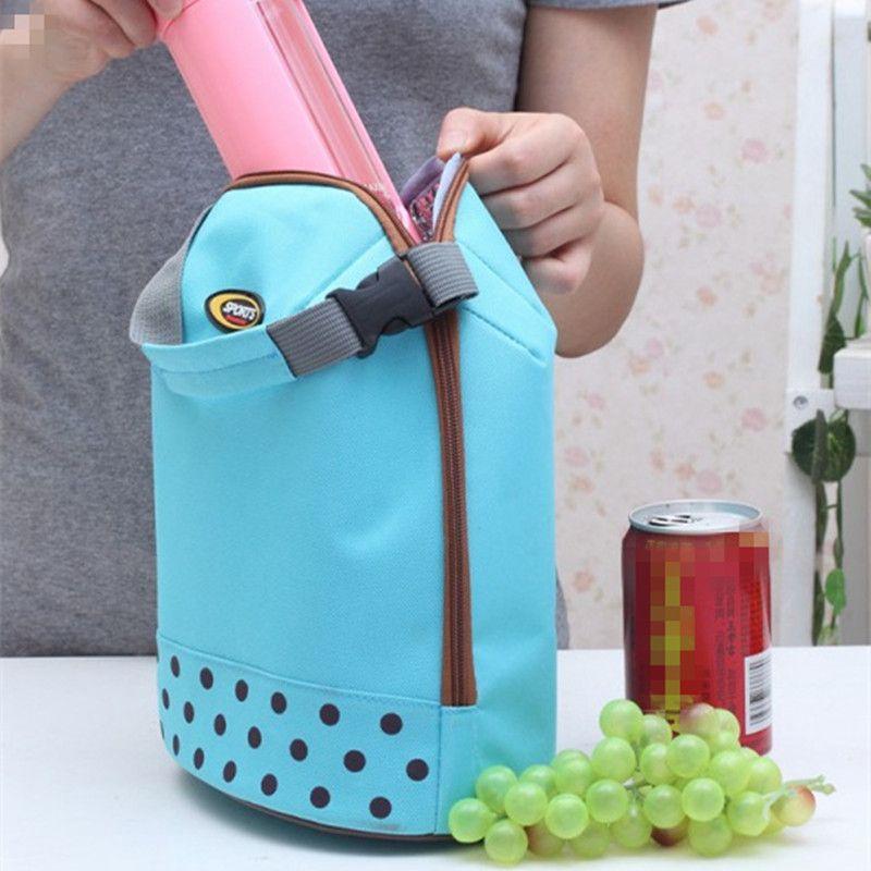 Travel Food Organizer Insulated Bag Lunch Box Storage Handbag For Mom Baby