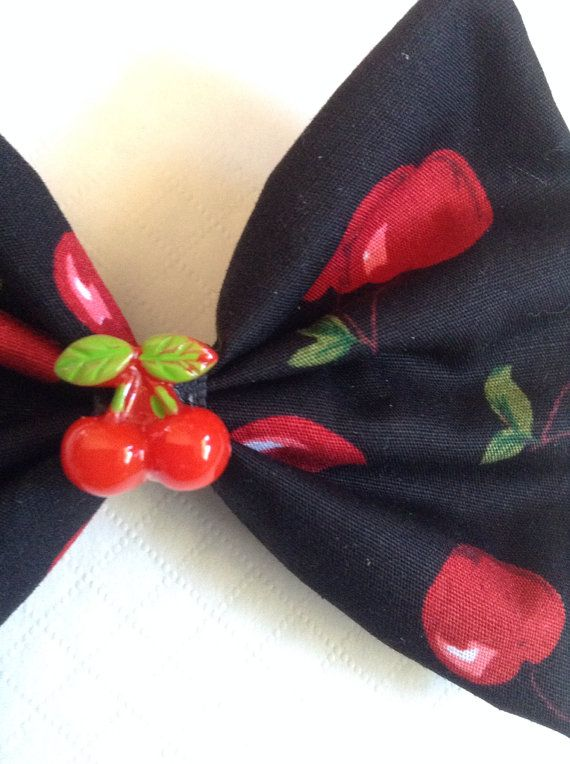 Pin Up Black and Red Retro Cherry Cherries by LavenderLatteShop, $5.00
