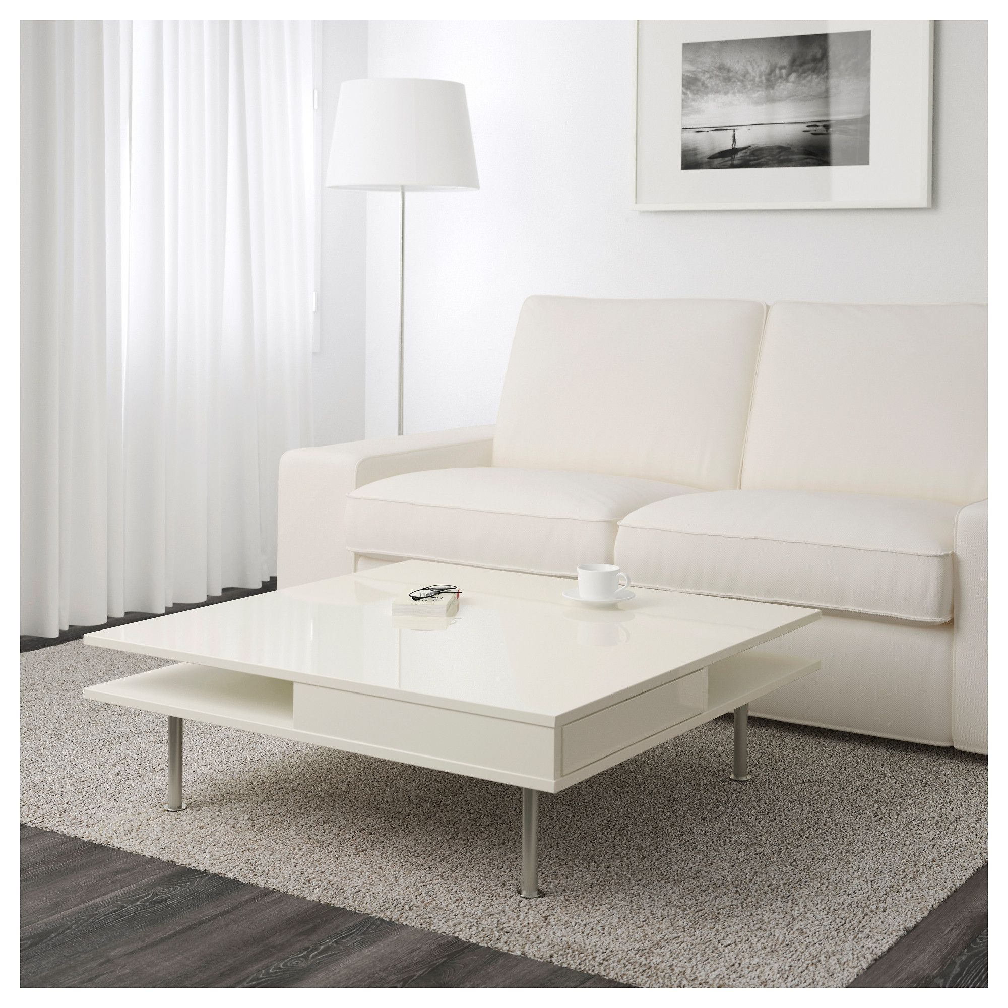 IKEA TOFTERYD High Gloss White Coffee table Coffee table