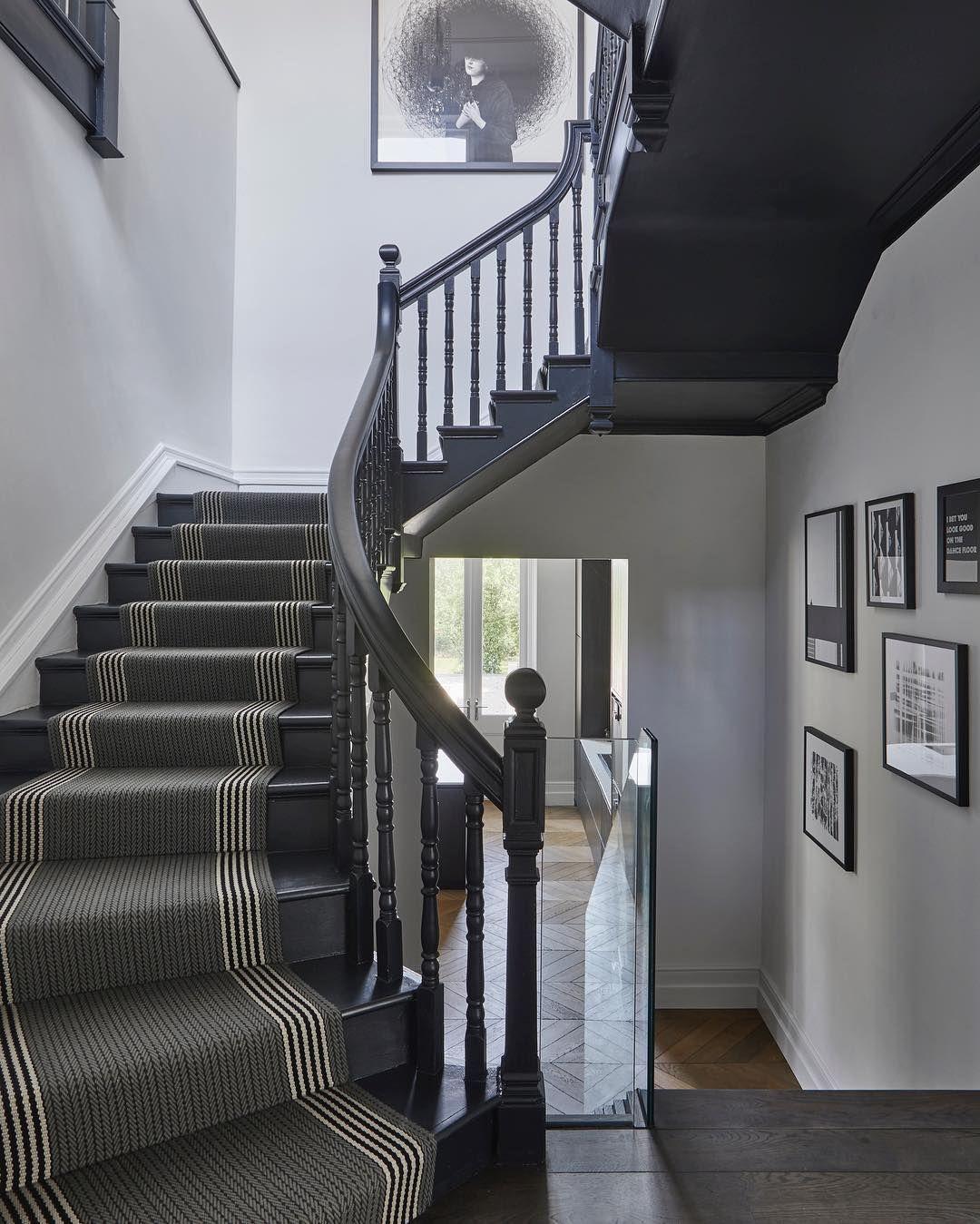 """Roger Oates Design On Instagram """"Thank You Cherieleeinteriors   Roger Oates Stair Runners   Wooden   Wood Staircase Carpet   Corner   Pinterest   Carpet"""