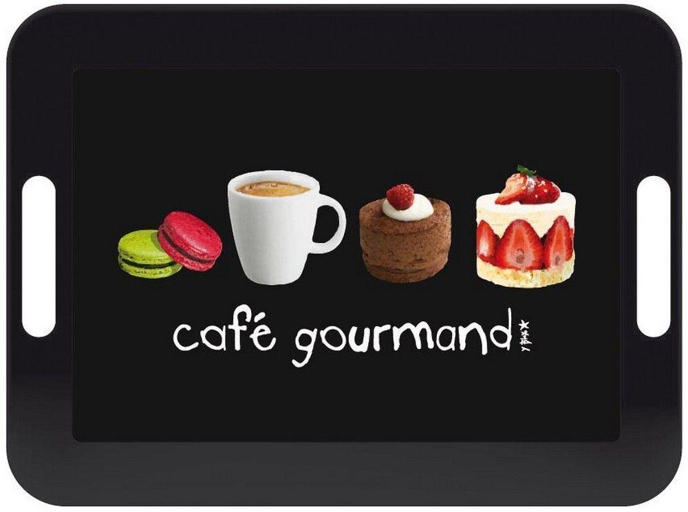 Plateau design Café gourmand Couleur Noir Matière Mélamine en vente sur le Guide de shopping TritOOshop