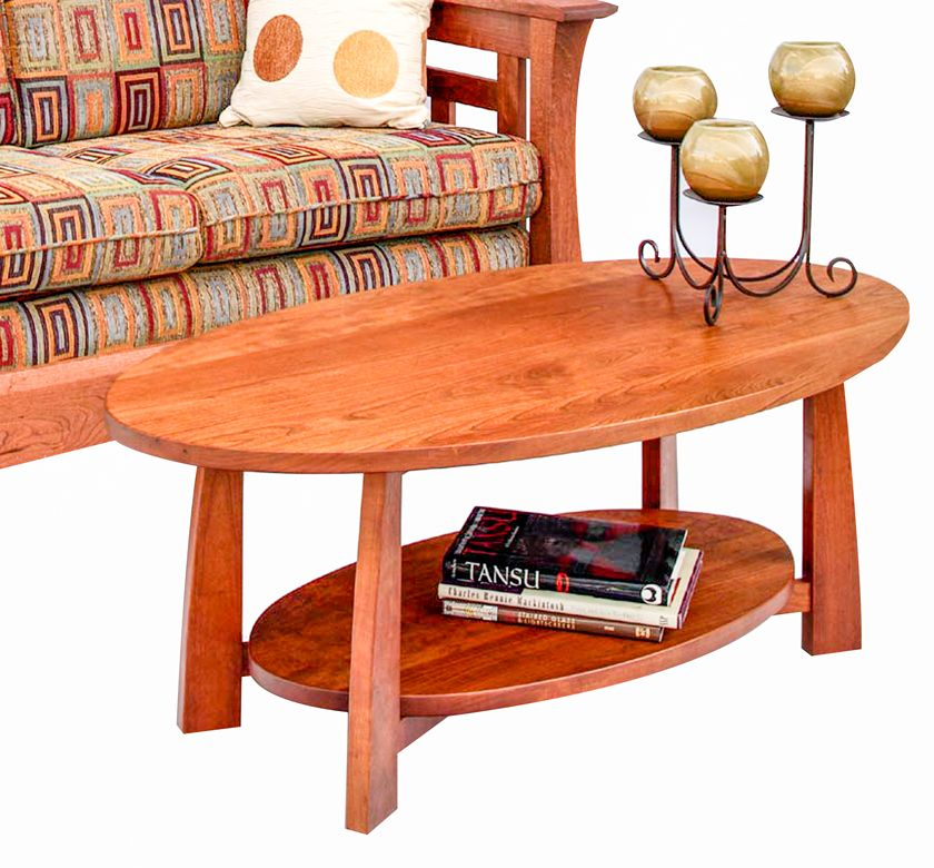 Bungalow Oval Coffee Table In Natural Cherry