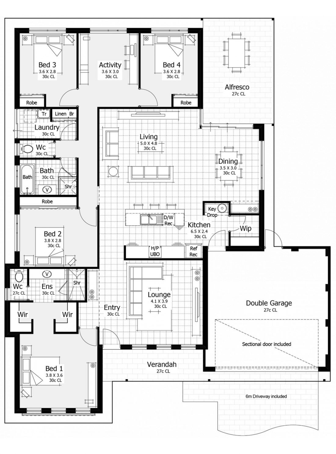 Floor Plan Friday  Master At Front  Key Drop Area  Open