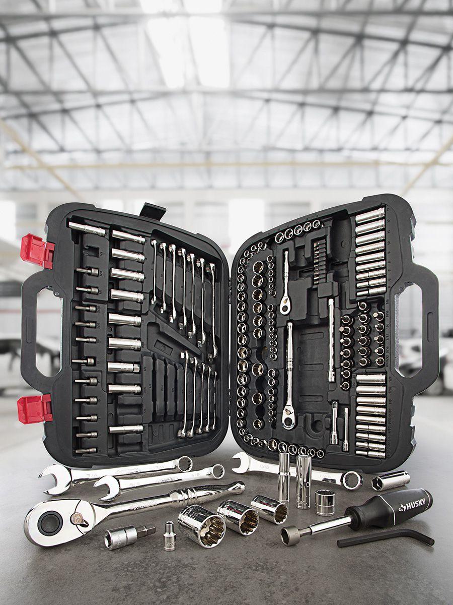 Este completo conjunto de herramientas mecánicas Husky