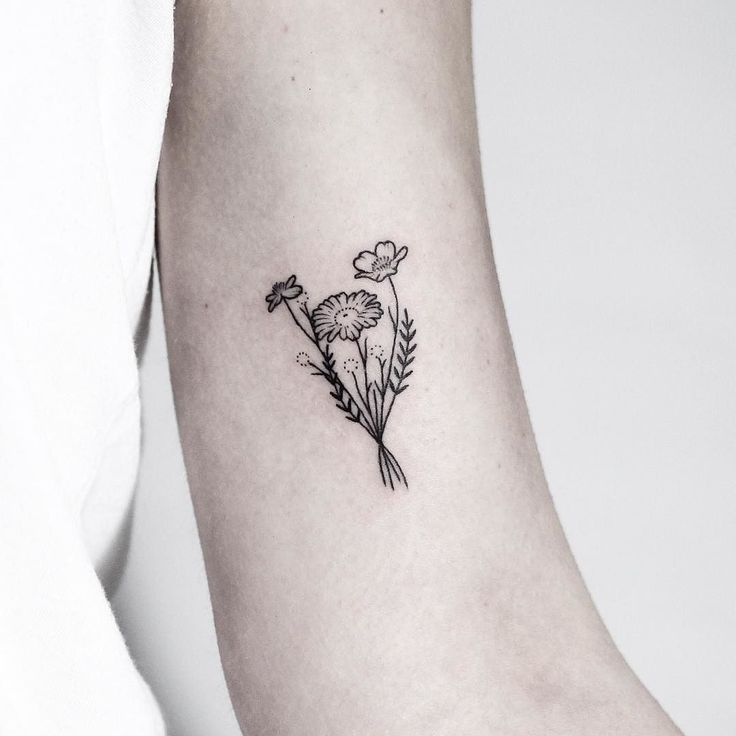Drawn Wildflower Small Flower 2 Tattoo Files Tattoos Flower