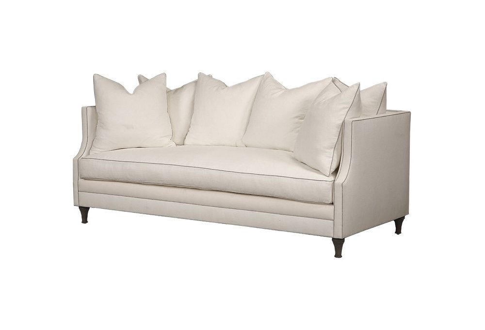 Dumont 85 Sofa White Gray Linen One Kings Lane Sofa White Loveseat French Provincial Living Room