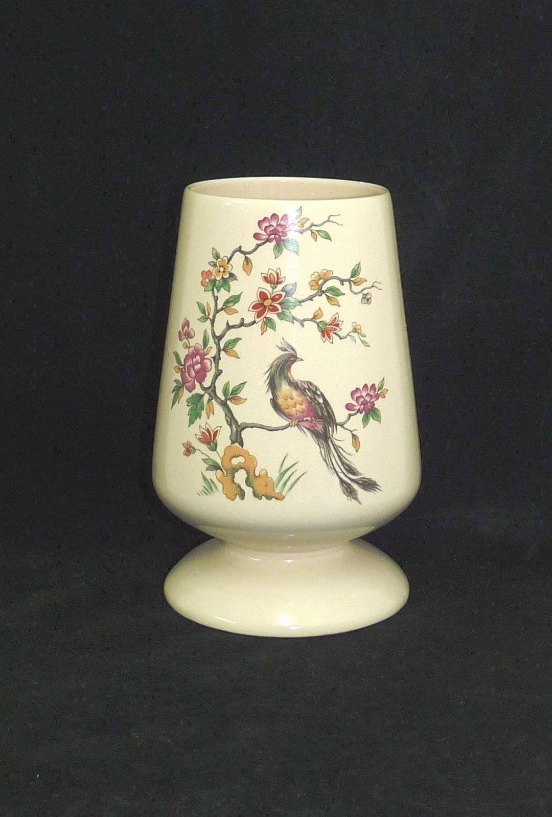 Cream ceramic vase new devon pottery cream pottery vase floral cream ceramic vase new devon pottery cream pottery vase floral phoenix design oriental design vase flower arrangement arranging reviewsmspy