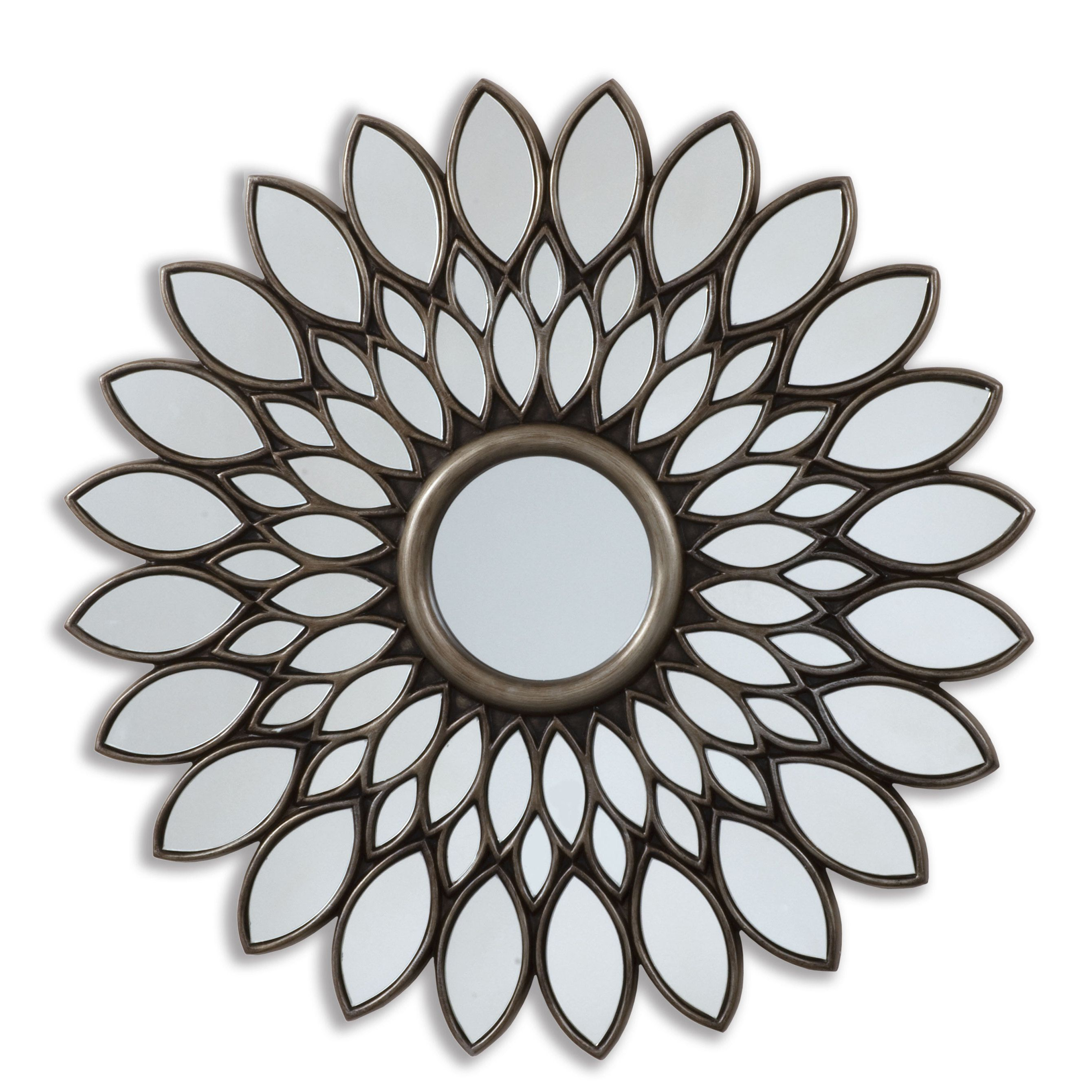 Selections By Chaumont Inch Bronze Sunflower Decorative Mirror - Decorative gold mirrors