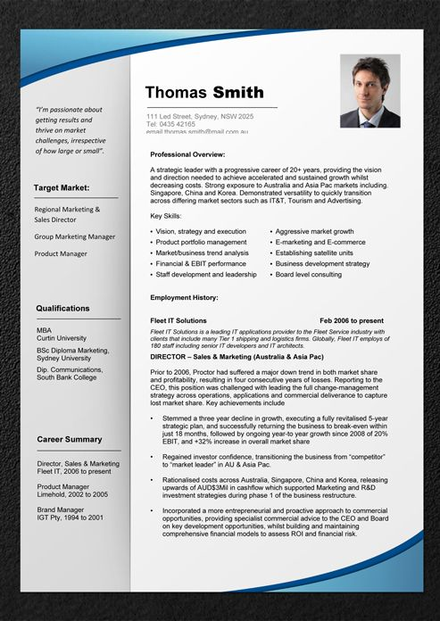 cv template - Photo Resume Template
