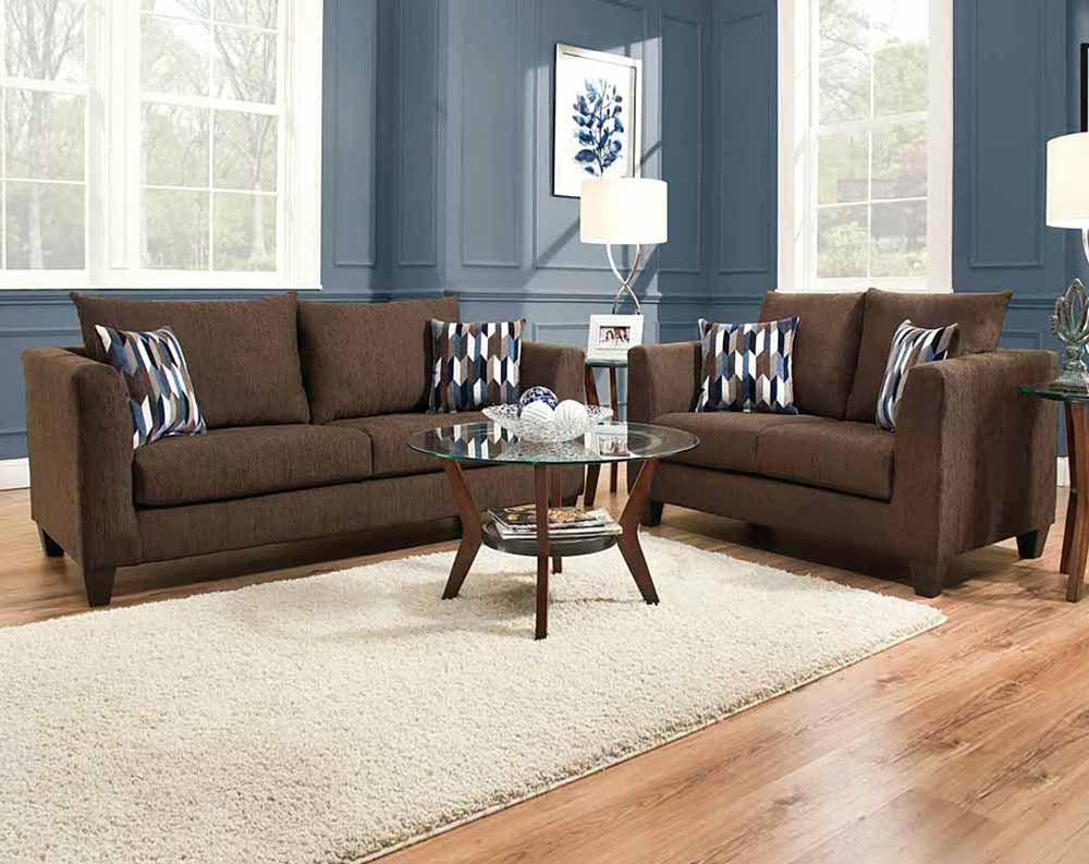 Camino Chocolate Sofa Loveseat Living Rooms American