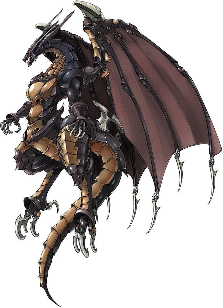 Bahamut | Video games | Final fantasy art, Fantasy monster