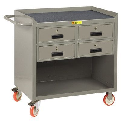 """Little Giant USA 38"""" H x 41.5"""" W x 24"""" D Mobile Bench Cabinet with Storage Drawers"""