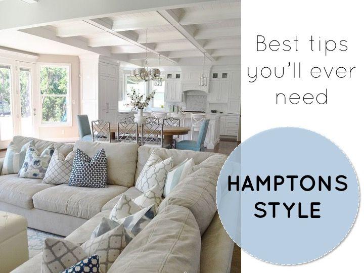 Hamptons Style, Hamptons Decor, Tips Hamptons Decor, Beach Style Hamptons,  Decor Blog. EinrichtungWohnenEigentumswohnungWohnzimmer ...