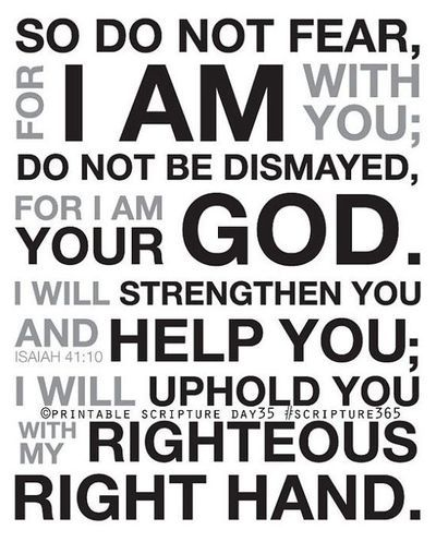 Fear Not  Isaiah  Fear Thou Not For I Am With Thee Be Not