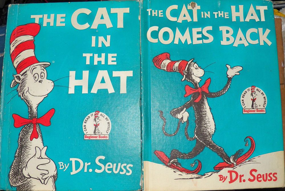 The Cat In The Hat 1957 and the Cat Comes Back Books 1958