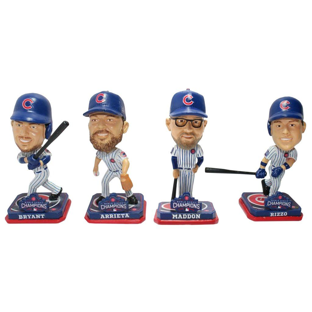 Chicago Cubs Bobble Mini Bighead 4 Pack 2016 World