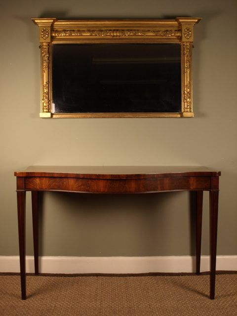 A Georgian Mahogany Console Serving Table Serving Table Antique Console Table Mahogany