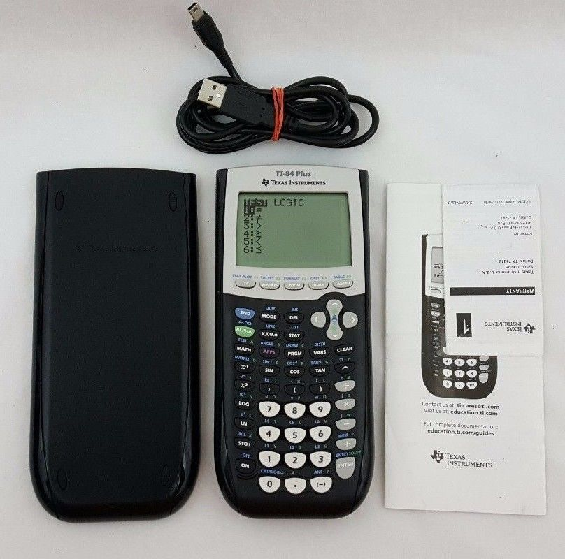 TI-84 Plus Graphing Calculator Texas Instruments TI84+ Graphic - financial calculator