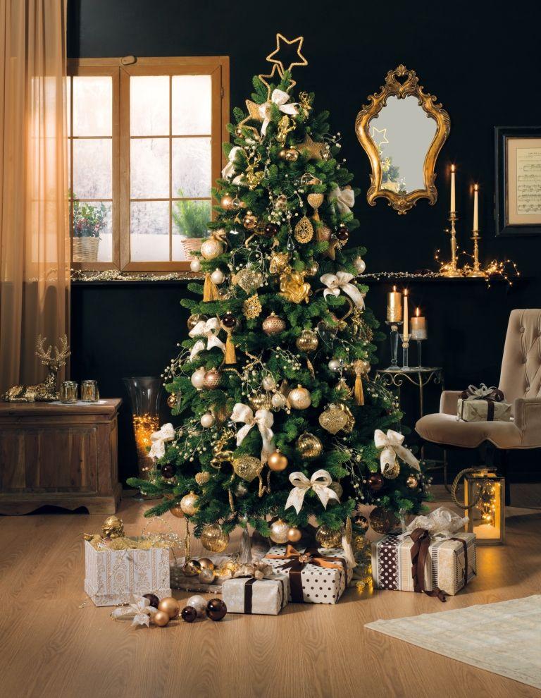 Decorazioni Natalizie Dorate.Magia Di Natale My Christmas Alberi Di Natale Natale E