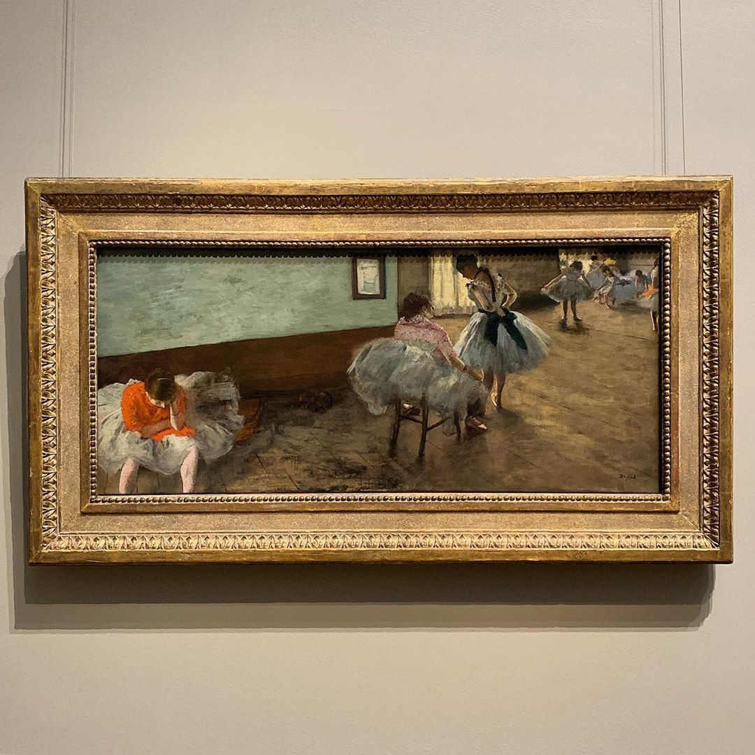 Edgar Degas The Dance Lesson Oil On Canvas 1879 On View National Gallery Of Art